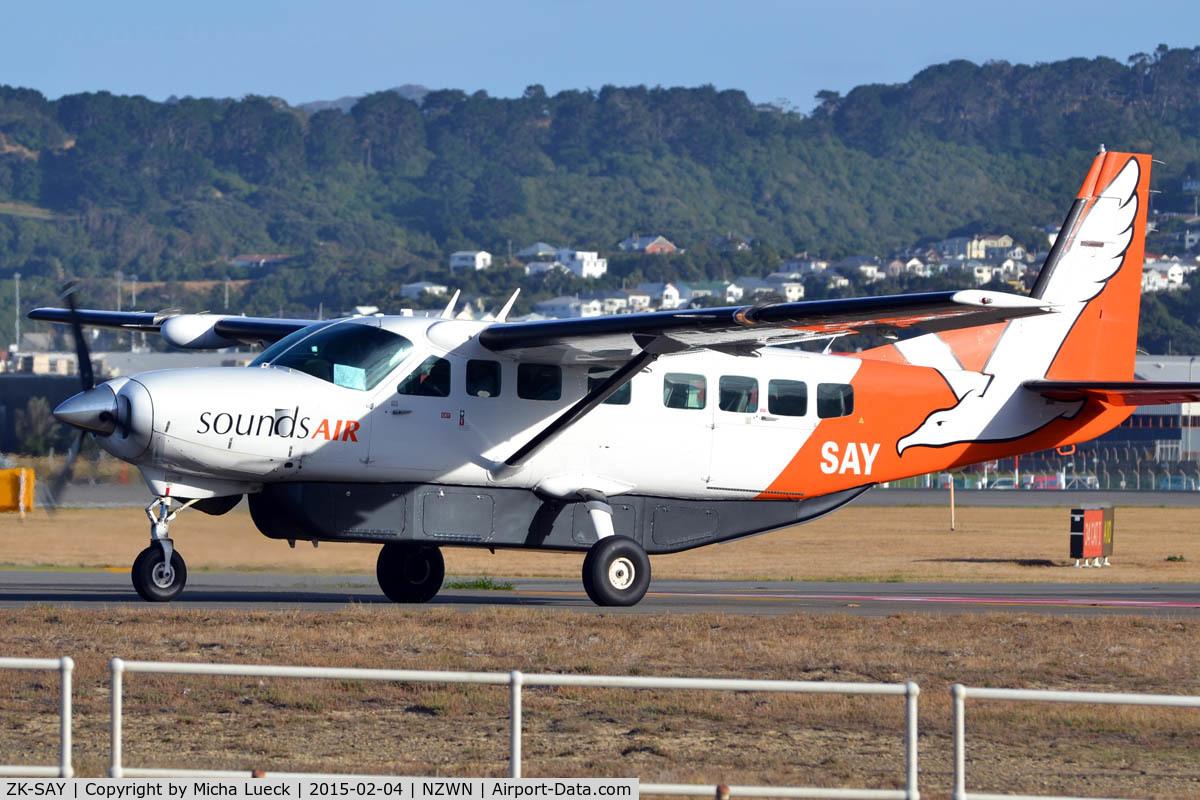 ZK-SAY, Cessna 208B  Grand Caravan C/N 208B0861, At Wellington