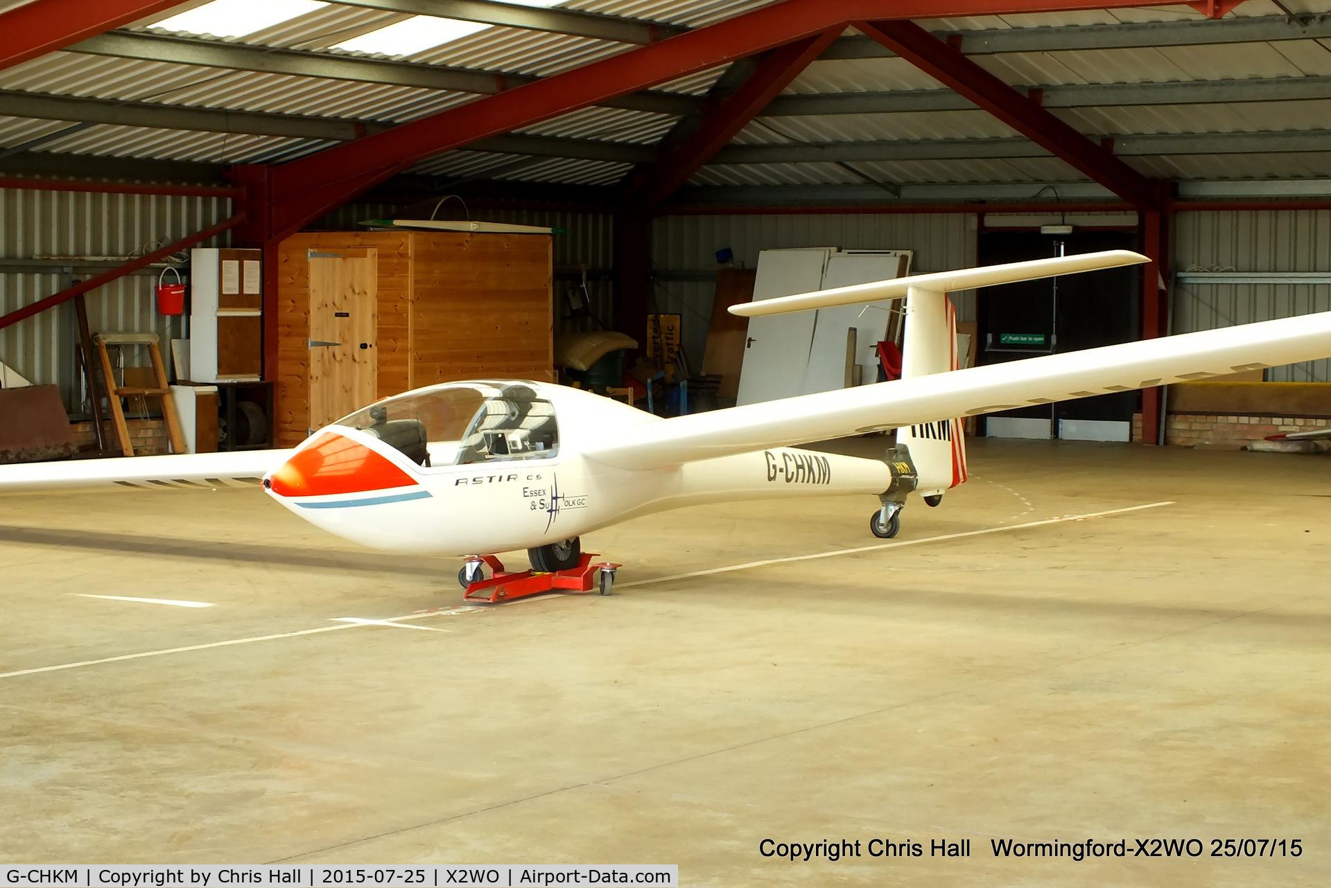 G-CHKM, 1976 Grob G-102 Astir CS Jeans C/N 2108, at Wormingford airfield