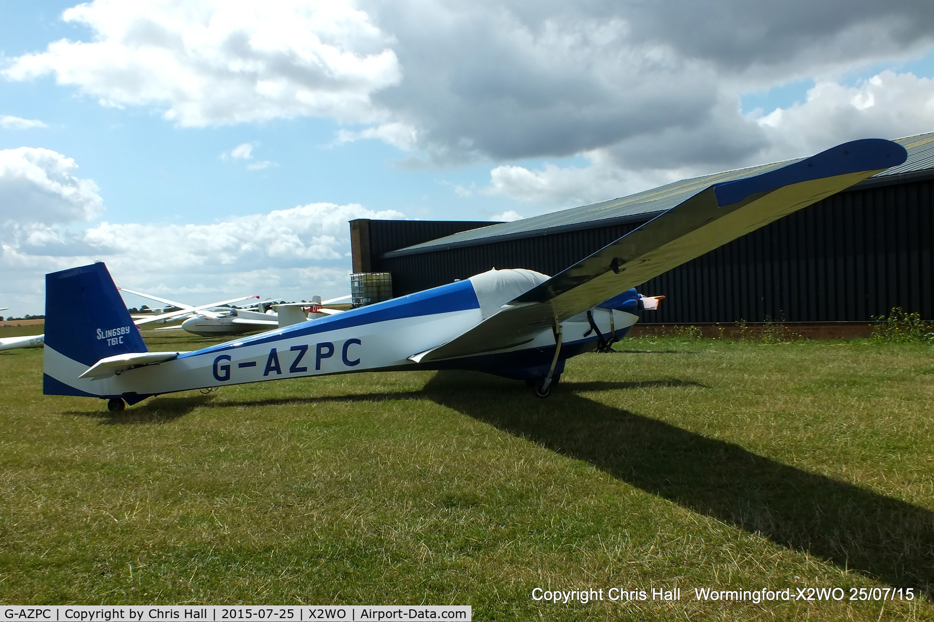 G-AZPC, 1972 Slingsby T-61C Falke C/N 1767, at Wormingford airfield