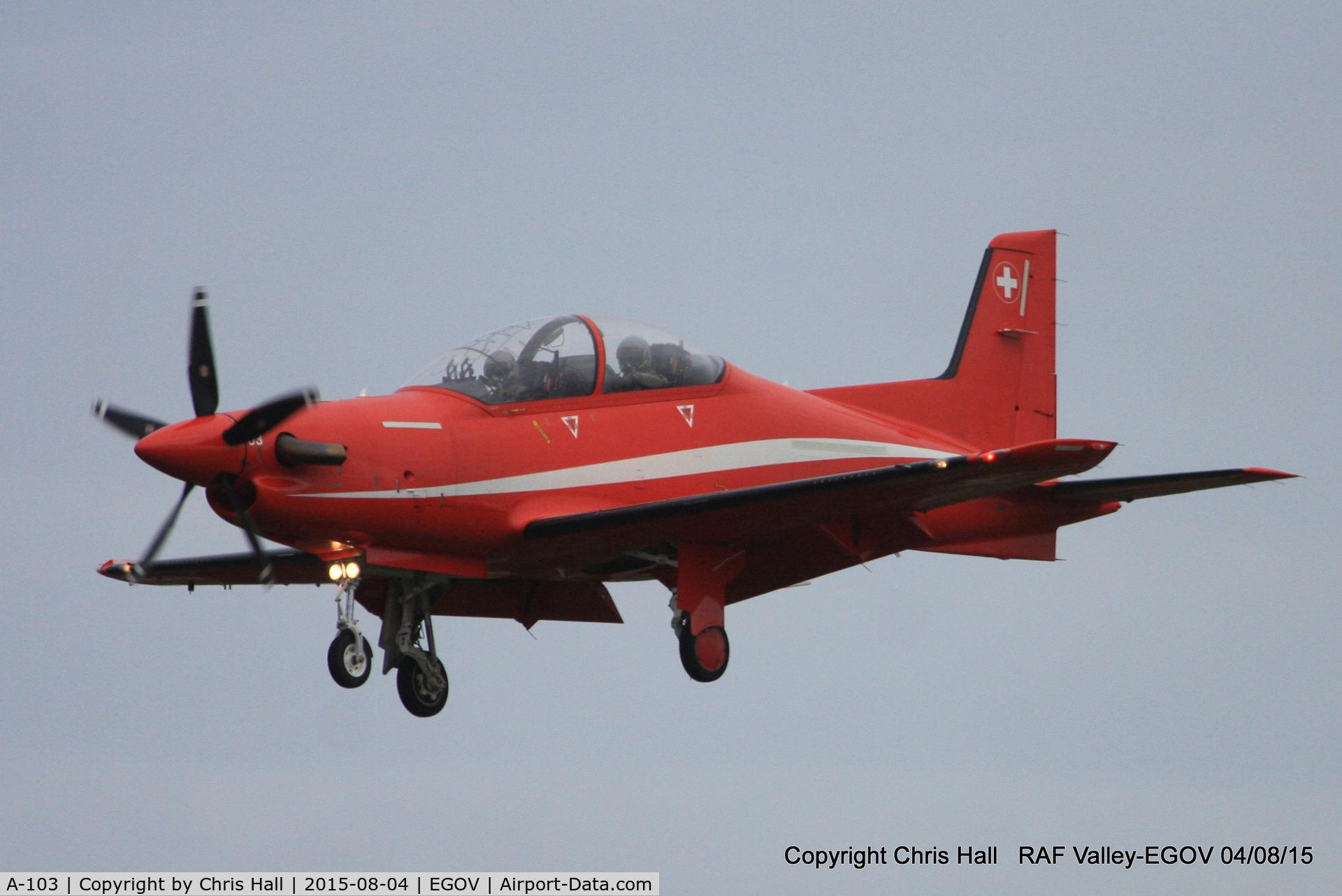 A-103, 2007 Pilatus PC-21 C/N 105, Swiss Air Force