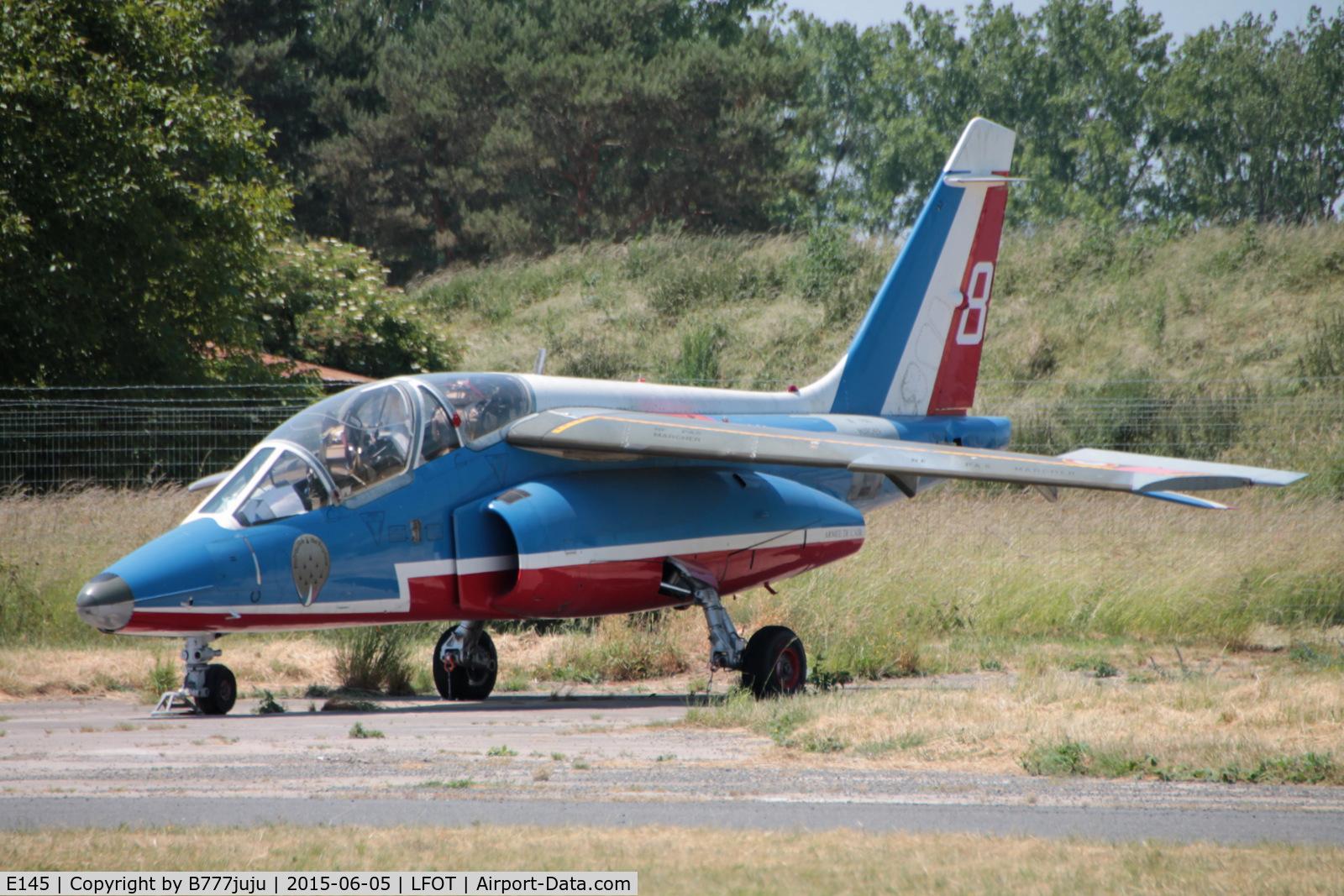 E145, Dassault-Dornier Alpha Jet E C/N E145, use for fire training at Tours