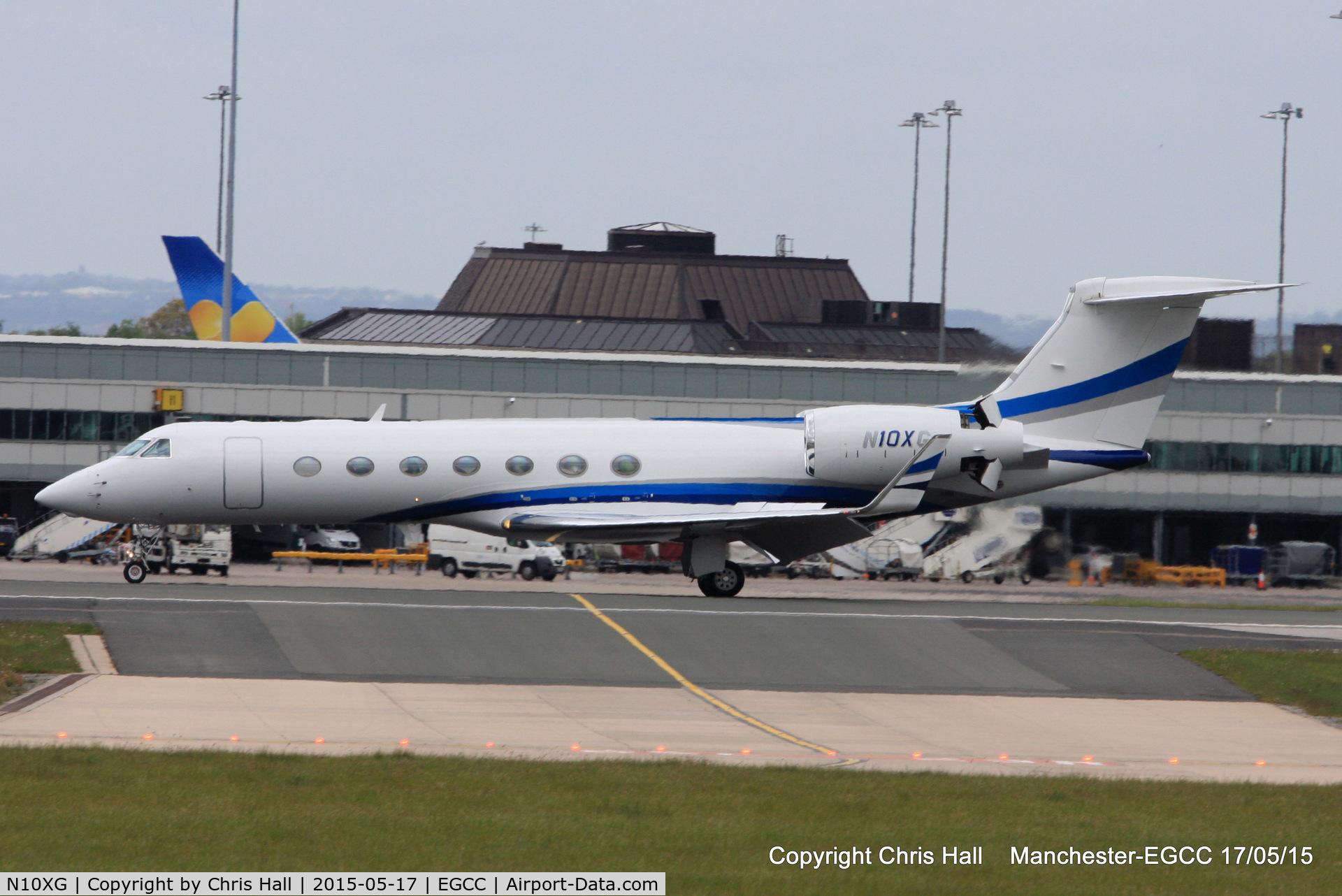 N10XG, 2008 Gulfstream Aerospace GV-SP (G550) C/N 5186, landing on RW23R
