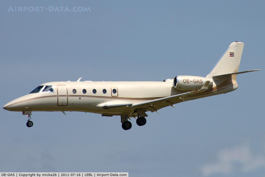 OE-GAS, 2007 Israel Aircraft Industries Gulfstream G150 C/N 242, Landing