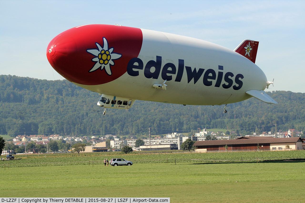 D-LZZF, 1998 Zeppelin LZ-N07 C/N 3, Landing at Birrfeld