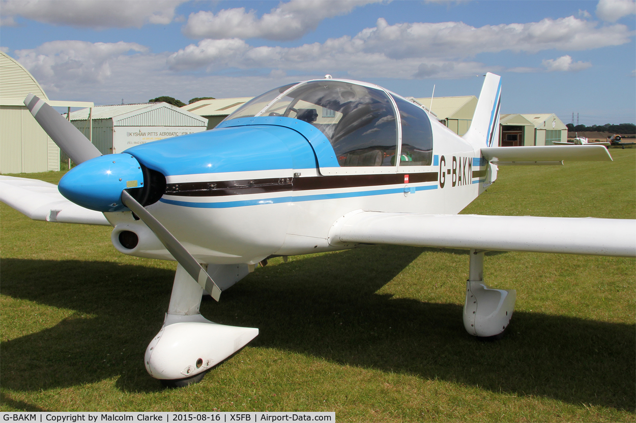 G-BAKM, 1972 Robin DR-400-140 Major C/N 755, Robin DR-400-140 Major at Fishburn Airfield, August 16th 2015