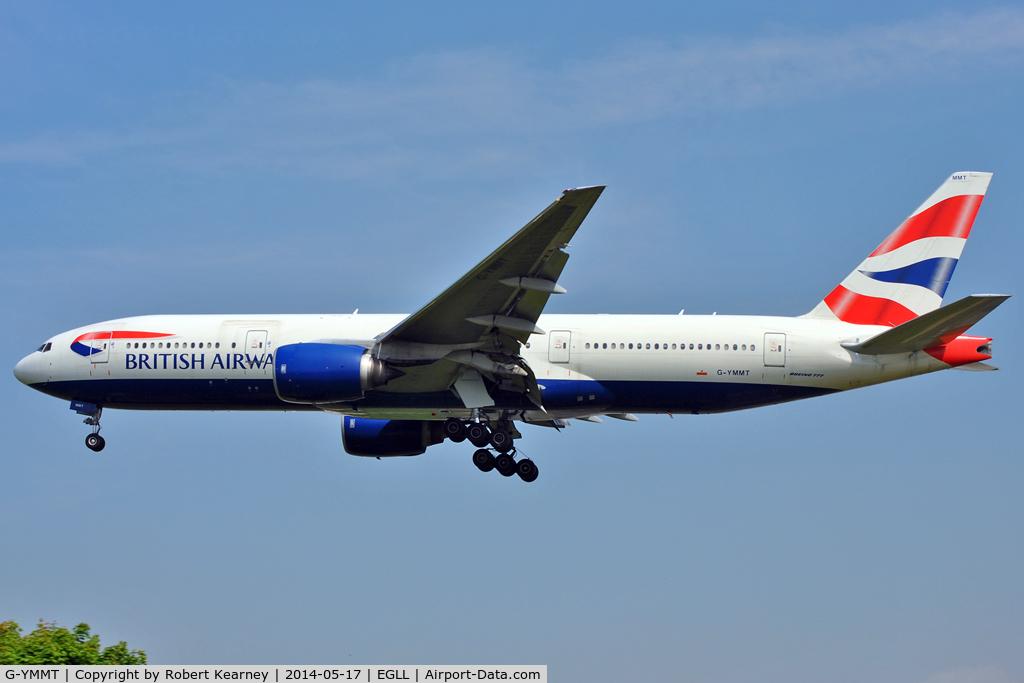 G-YMMT, 2009 Boeing 777-236/ER C/N 36518, On short finals at LHR