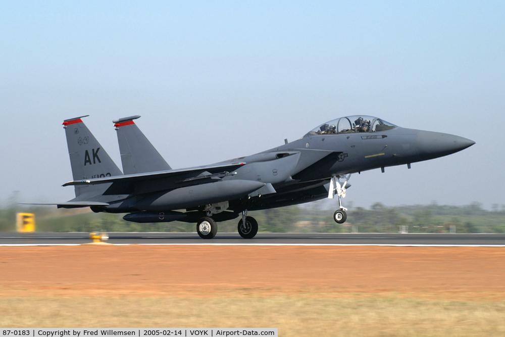 87-0183, 1987 McDonnell Douglas F-15E Strike Eagle C/N 1048/E023, 90FS AK