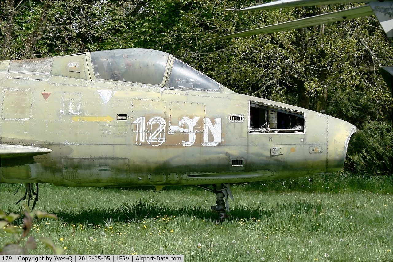 179, Dassault Super Mystere B.2 C/N 179, Dassault Super Mystere B.2, MaVaMo Museum, Vannes-Meucon Airport  (LFRV-VNE)