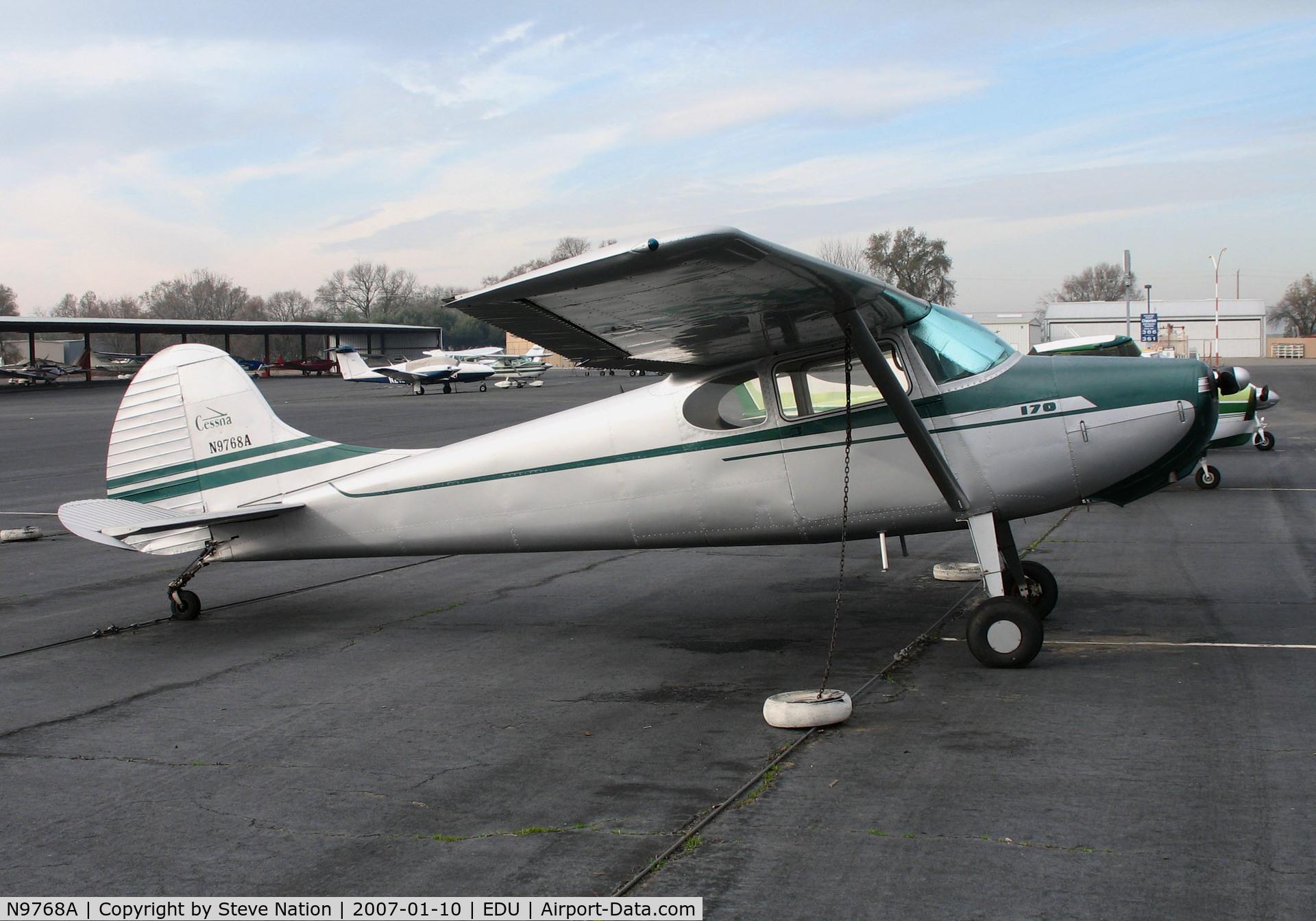 N9768A, 1950 Cessna 170A C/N 19409, 1950 Cessna 170A @ University Airport, Davis, CA (now Kentucky based)
