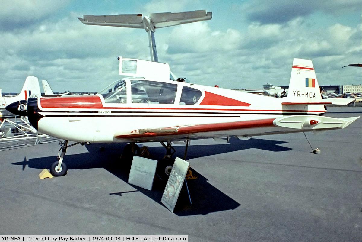 YR-MEA, IAR IAR-823 C/N 02, IAR 823 [02] Farnborough~G 08/09/1974. From a slide.