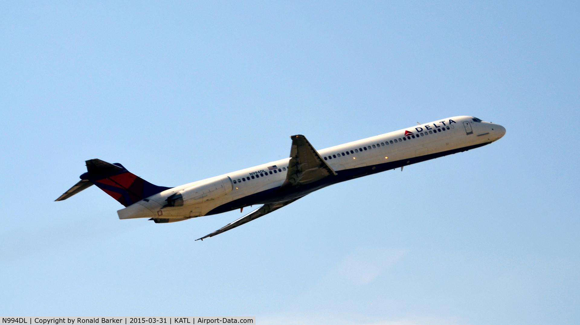 N994DL, 1991 McDonnell Douglas MD-88 C/N 53346, Taxi Atlanta