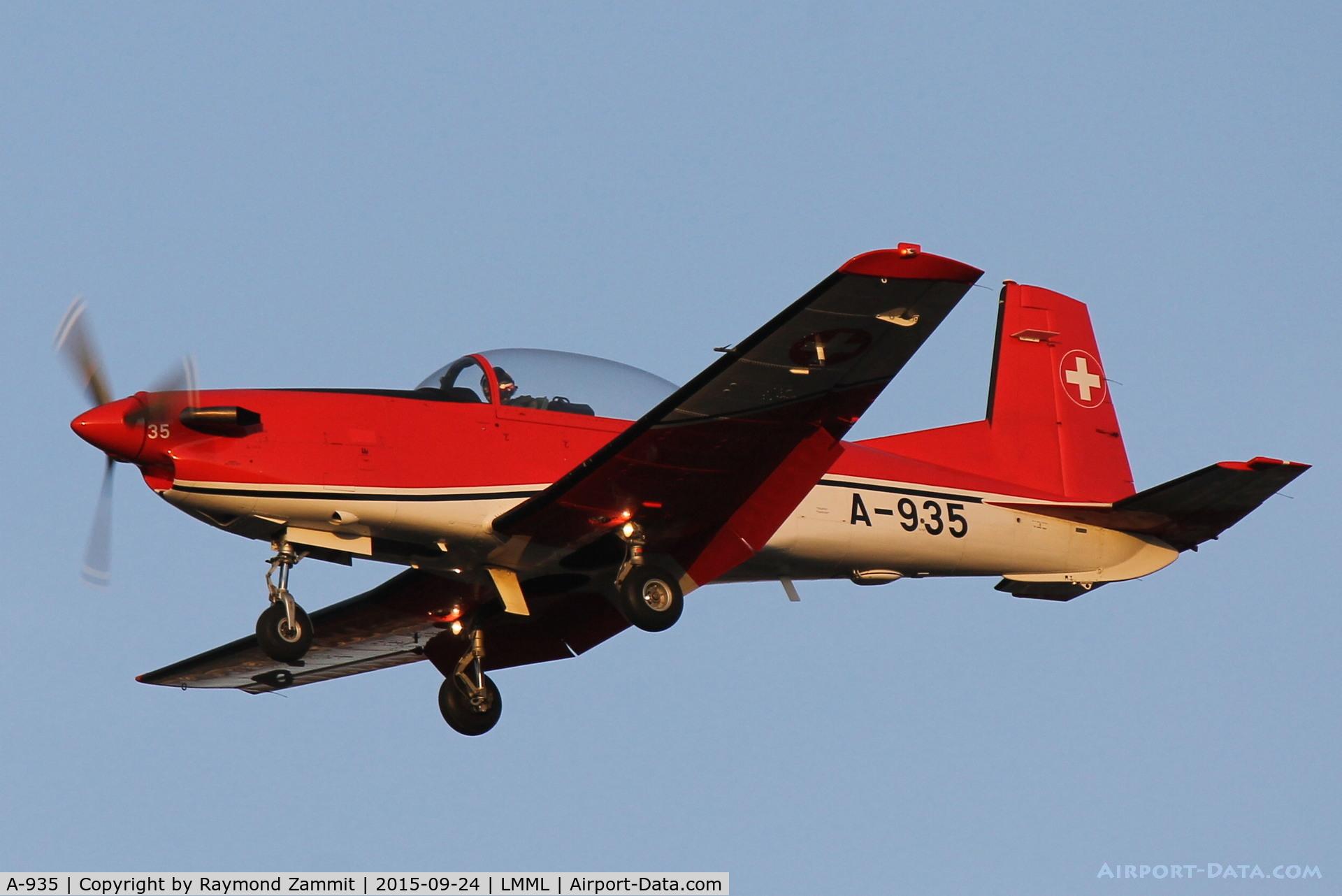 A-935, 1983 Pilatus PC-7 Turbo Trainer C/N 343, Pilatus PC-7 A-935 Swiss Air Force