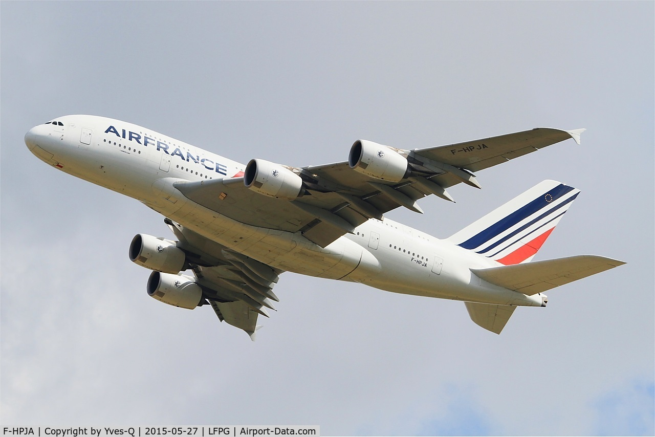 F-HPJA, 2010 Airbus A380-861 C/N 033, Airbus A380-861, Take off Rwy 27L, Roissy Charles De Gaulle Airport (LFPG-CDG)