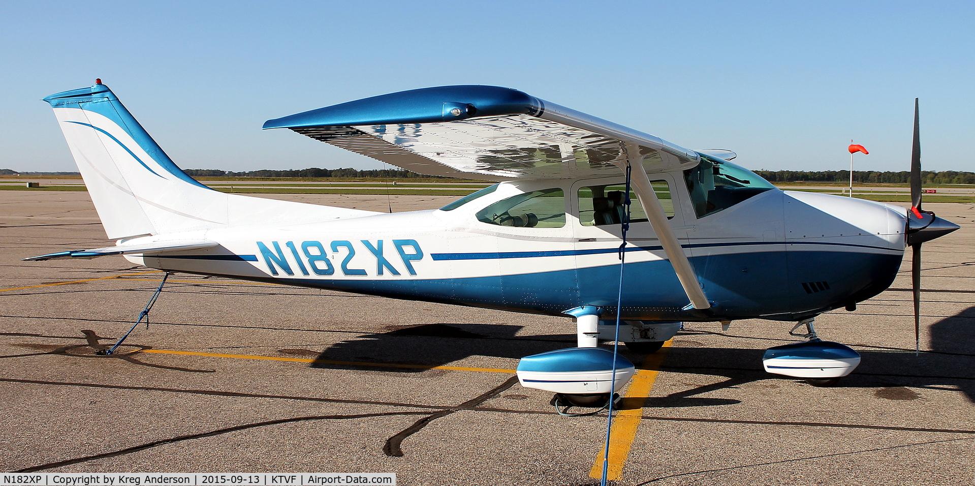 N182XP, 1973 Cessna 182P Skylane C/N 18261793, Cessna 182P Skylane on the ramp in Thief River Falls, MN.