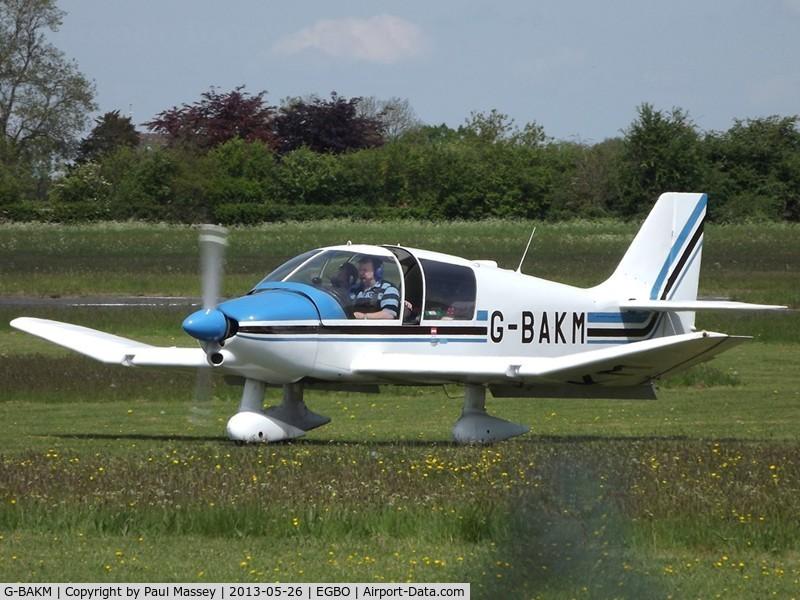 G-BAKM, 1972 Robin DR-400-140 Major C/N 755, 40's Weekend Fly-In Visitor.