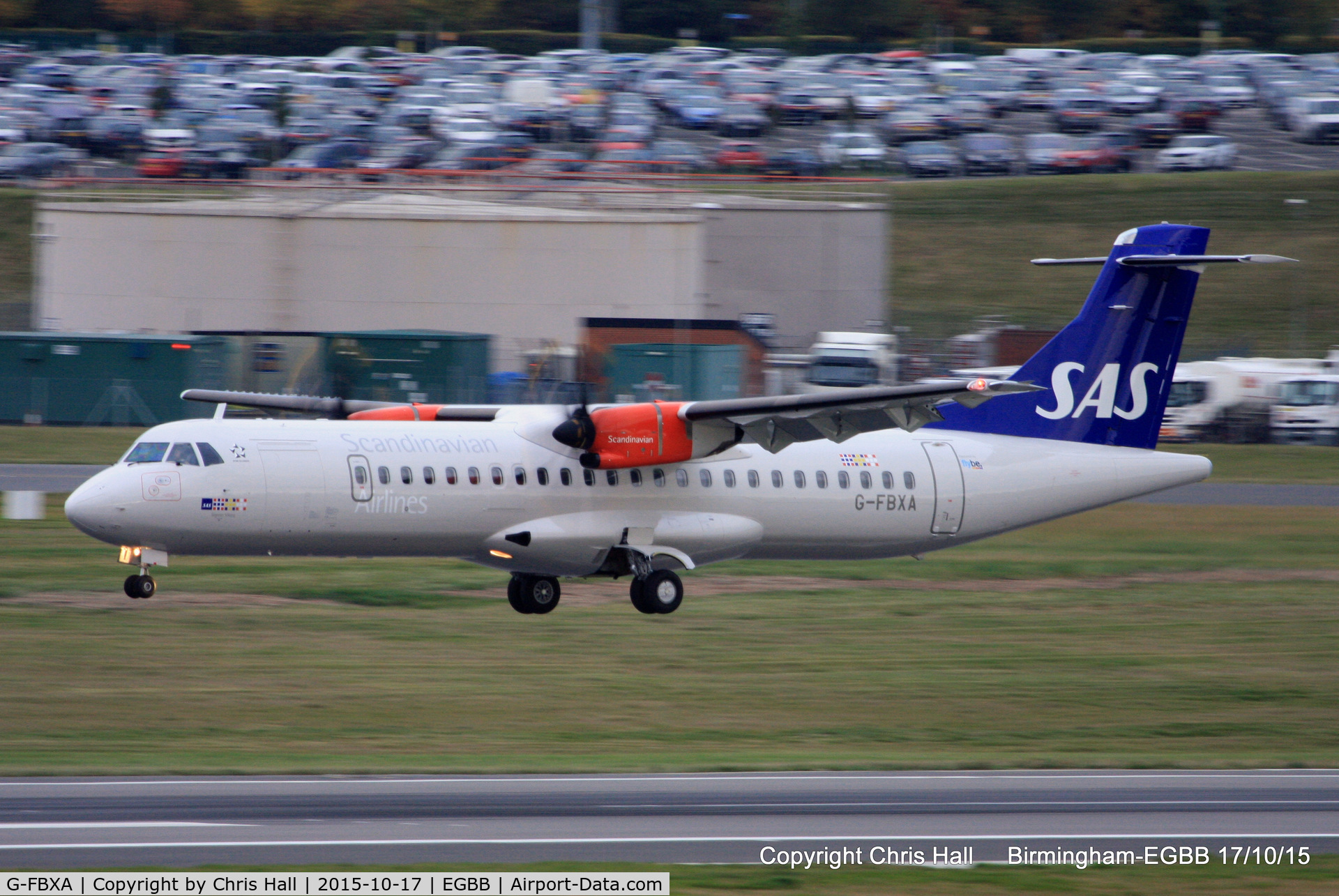 G-FBXA, 2015 ATR 72-212A C/N 1260, operated by flybe on behalf of SAS