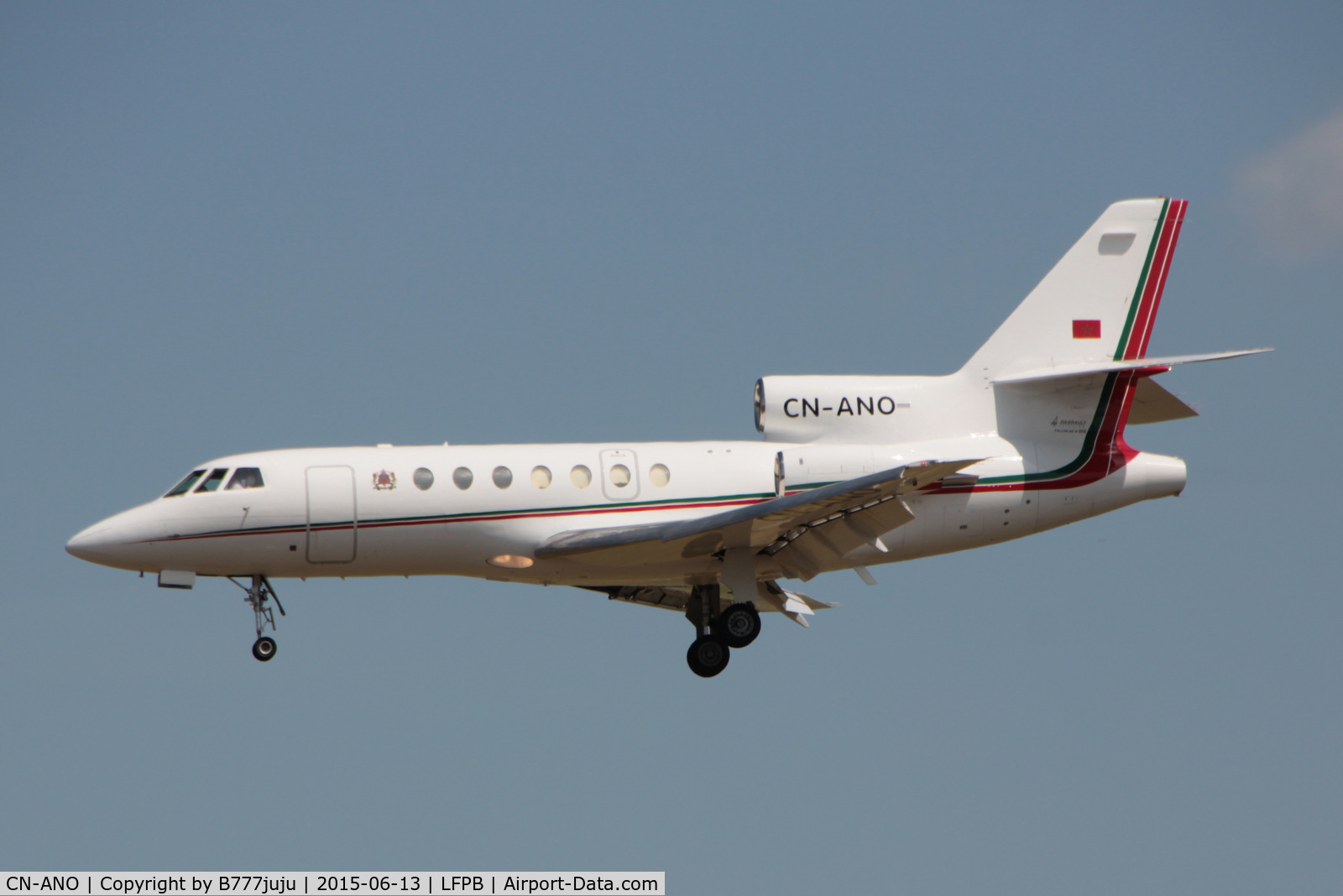 CN-ANO, 1979 Dassault Falcon 50 C/N 12, at Le Bourget