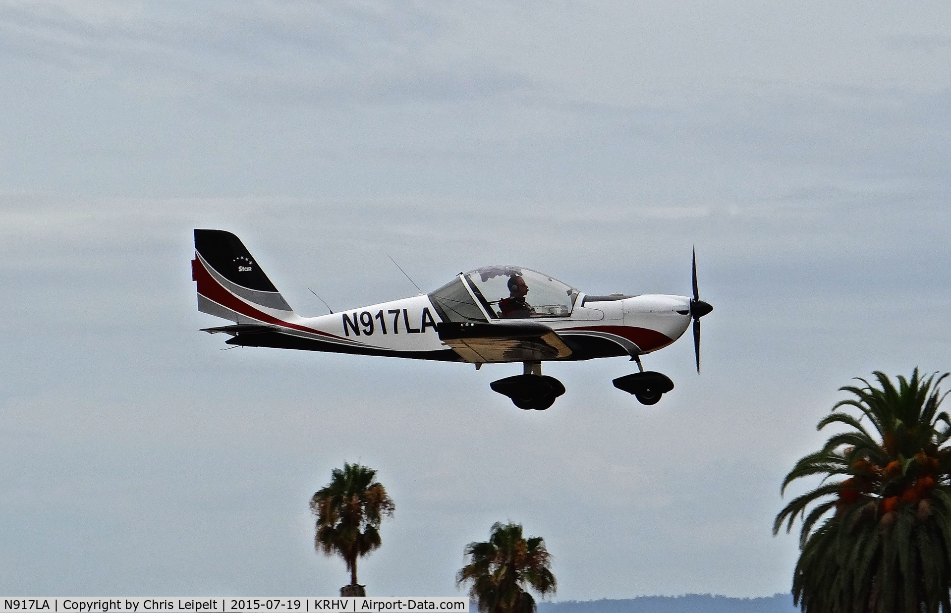 N917LA, 2007 Evektor-Aerotechnik Sportstar Plus C/N 20070917, California-based 2007 Sportstar Plus departing at Reid Hillview Airport, San Jose, CA.