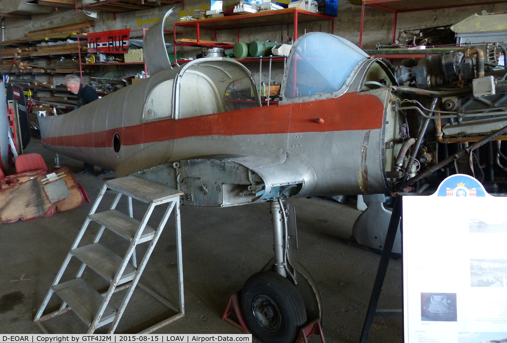 D-EOAR, Nord 1002 Pingouin II C/N 163, D-EOAR stored in the Austrian Aviation Museum Hangar Voslau-Wien 15.8.15