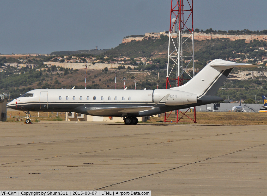 VP-CKM, 2013 Bombardier BD-700-1A11 Global 5000 C/N 9445, Parked at the General Aviation area...