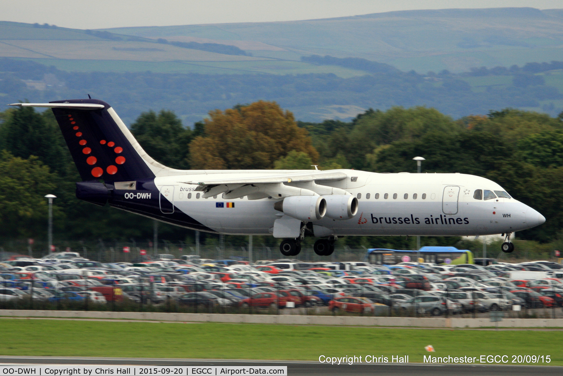 OO-DWH, 1998 British Aerospace Avro 146-RJ100 C/N E3340, Brussels Airlines