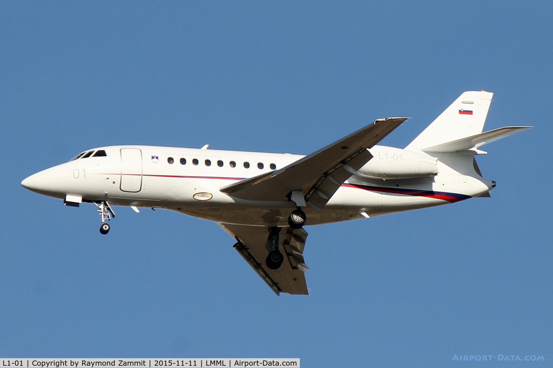 L1-01, 2003 Dassault Falcon 2000EX C/N 15, Dassaul Falcon 2000EX L1-01 Government of Slovenia