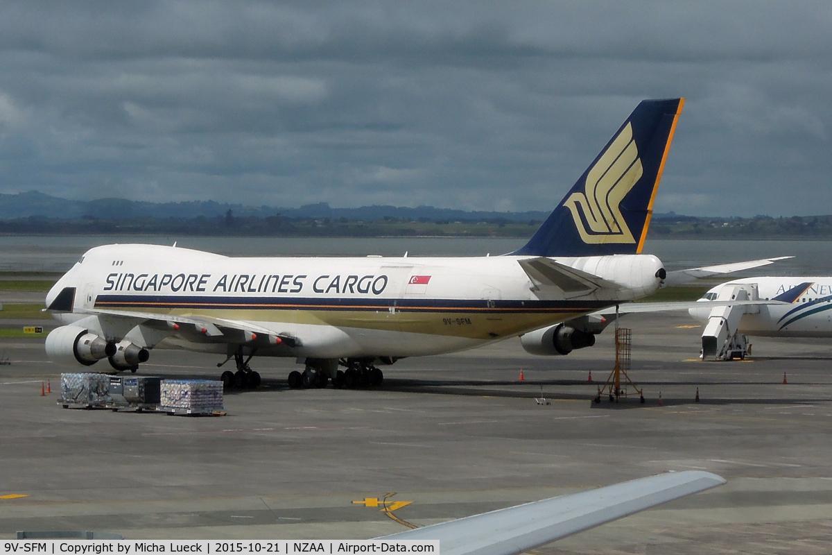 9V-SFM, 2003 Boeing 747-412F/SCD C/N 32898, At Auckland