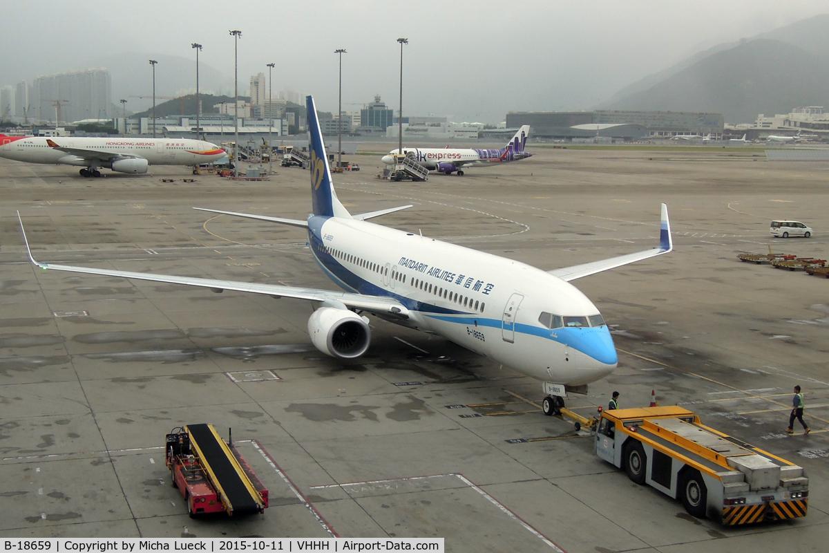 B-18659, 2015 Boeing 737-8SH C/N 41335, At Hong Kong