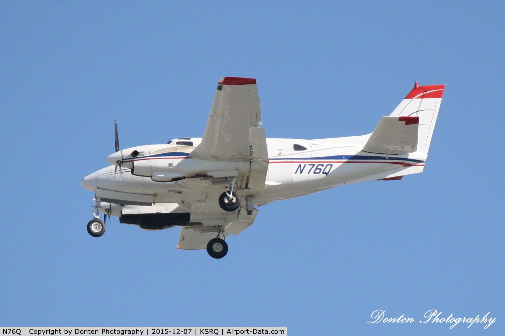 N76Q, 1967 Beech U-21A Ute C/N LM-15, Beechcraft King Air 90 (N76Q) arrives at Sarasota-Bradenton International Airport