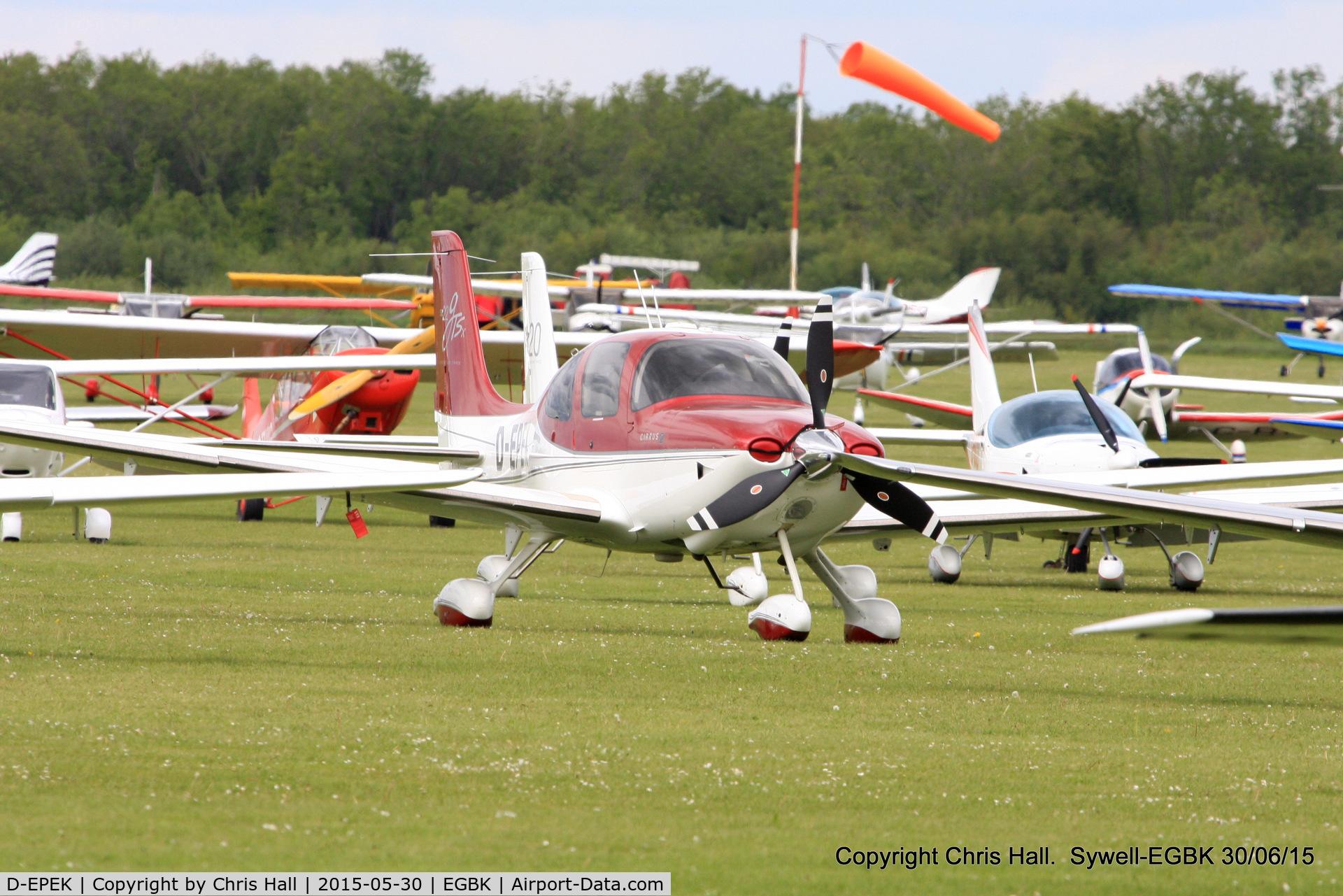 D-EPEK, Cirrus SR22 GTS C/N 3351, at Aeroexpo 2015