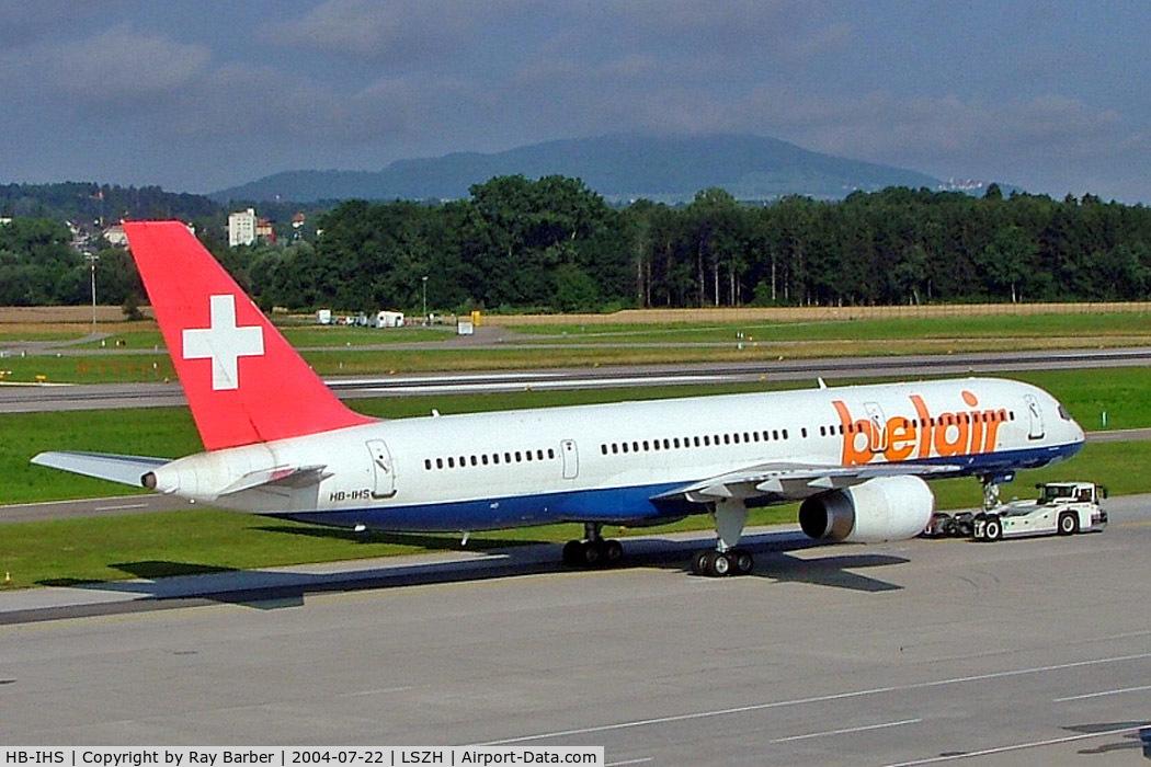 HB-IHS, 2000 Boeing 757-2G5 C/N 30394, Boeing 757-2G5 [30394] (Belair) Zurich~HB 22/07/2004