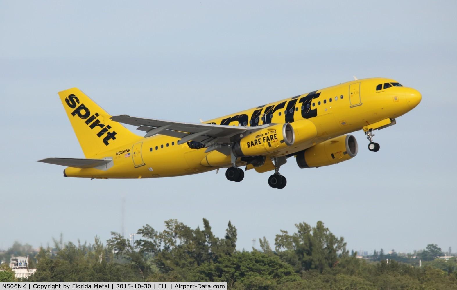 N506NK, 2005 Airbus A319-132 C/N 2490, Spirit