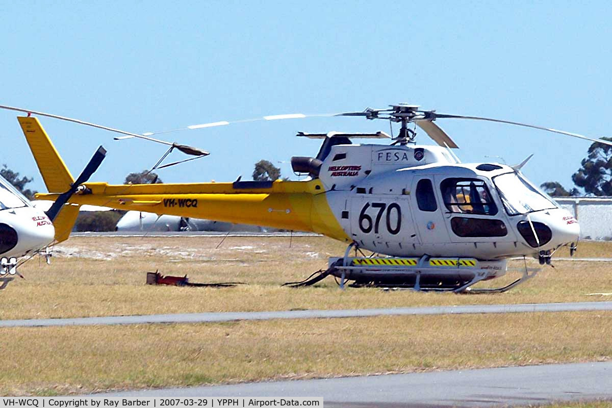 VH-WCQ, 1999 Eurocopter AS-350B-3 Ecureuil C/N 3195, Eurocopter AS.350B2 Ecureuil [3195] (Helicopters Australia) Perth-International~VH 29/03/2007
