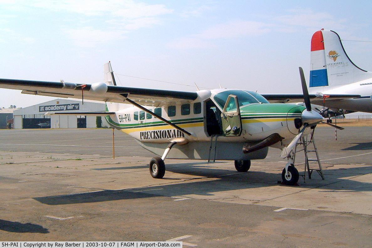 5H-PAI, 1994 Cessna 208B Grand Caravan C/N 208B0400, Cessna 208B Grand Caravan [208B-0400] (Precisionair) Johannesburg-Rand~ZS 07/10/2003