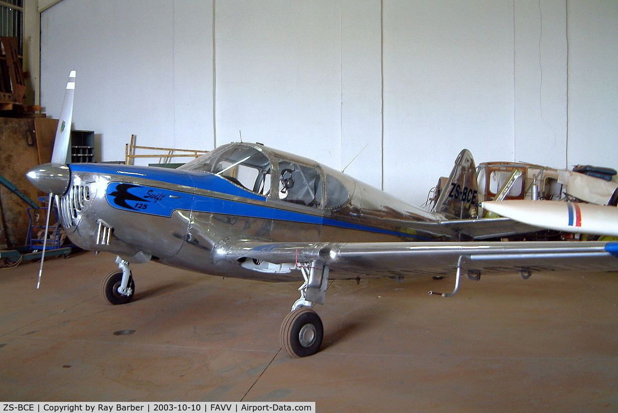 Aircraft ZS-BCE (1946 Temco GC-1B Swift C/N 1270) Photo by Ray