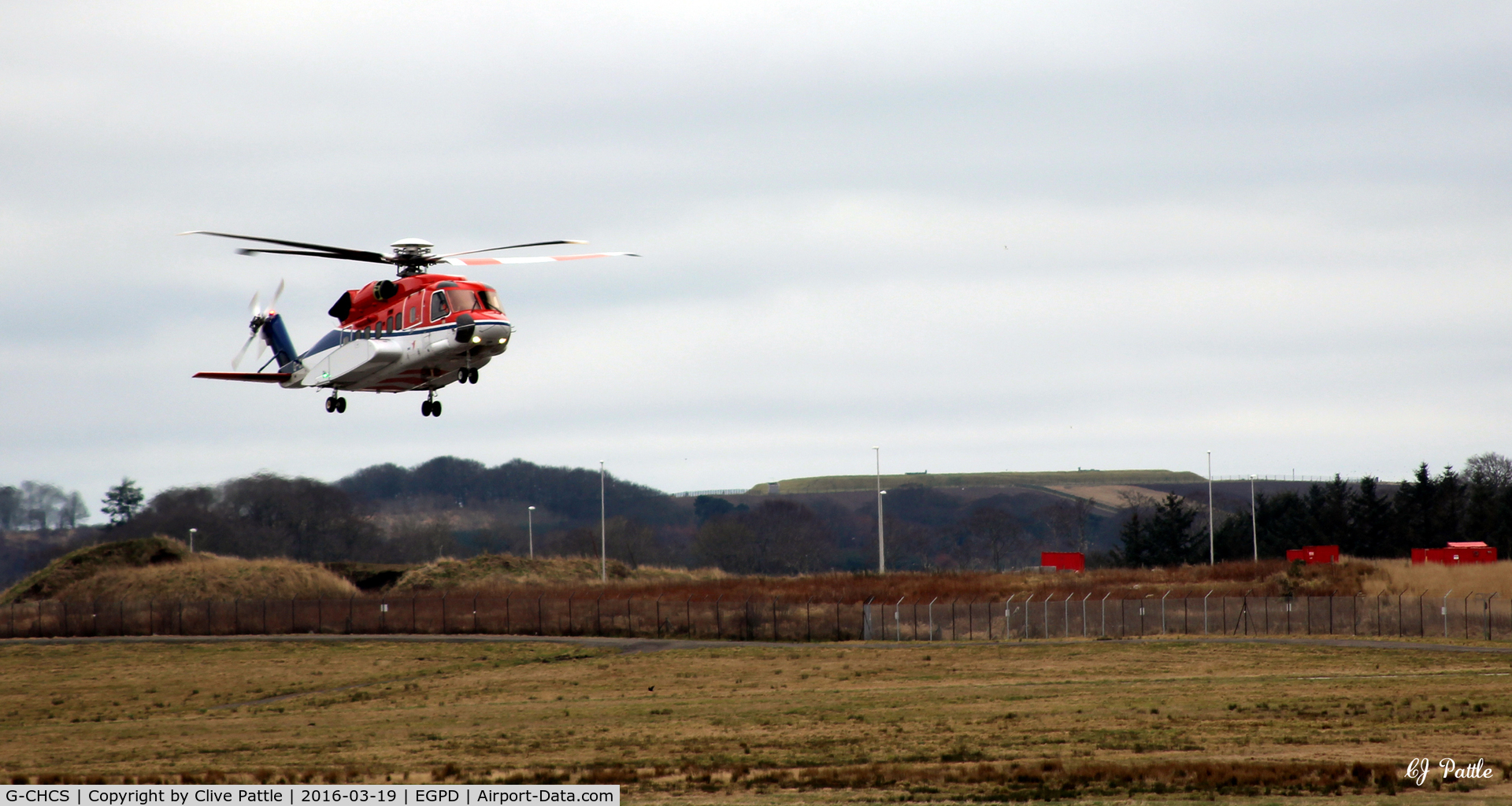 G-CHCS, 2010 Sikorsky S-92A C/N 920125, Long approach to land at Aberdeen EGPD