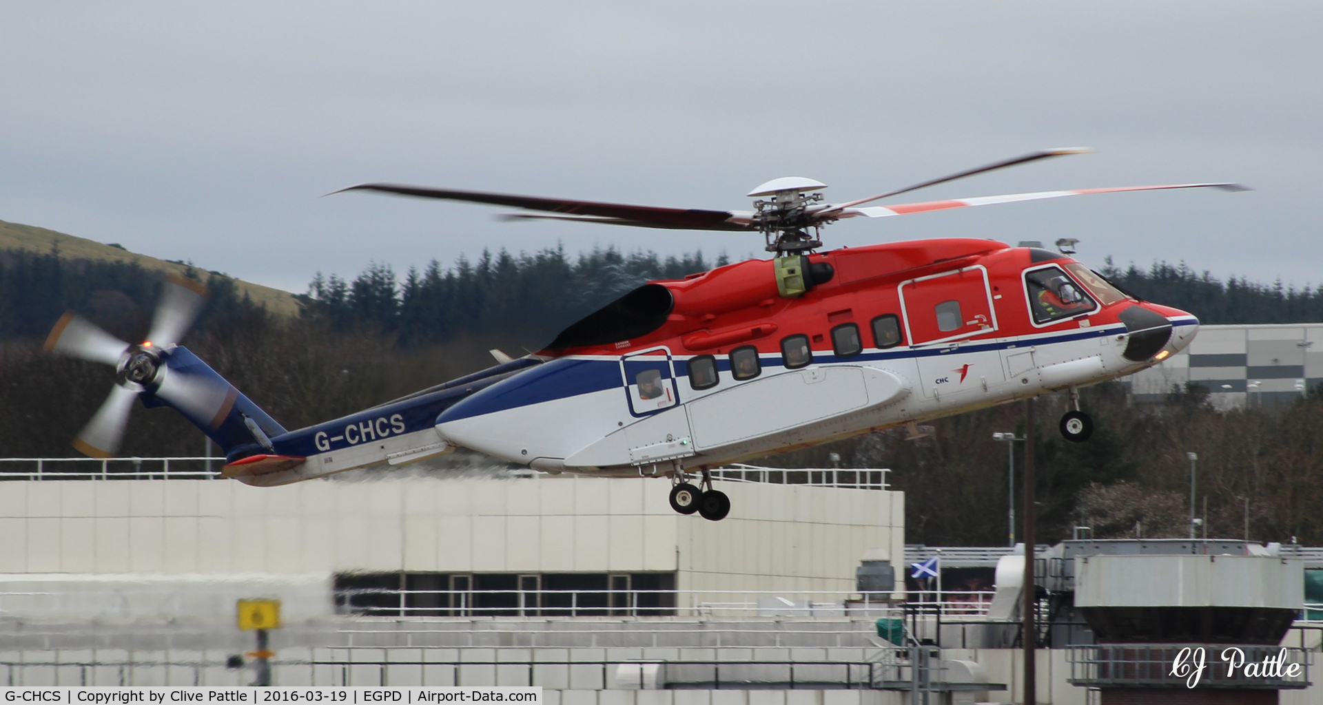 G-CHCS, 2010 Sikorsky S-92A C/N 920125, In action at Aberdeen EGPD