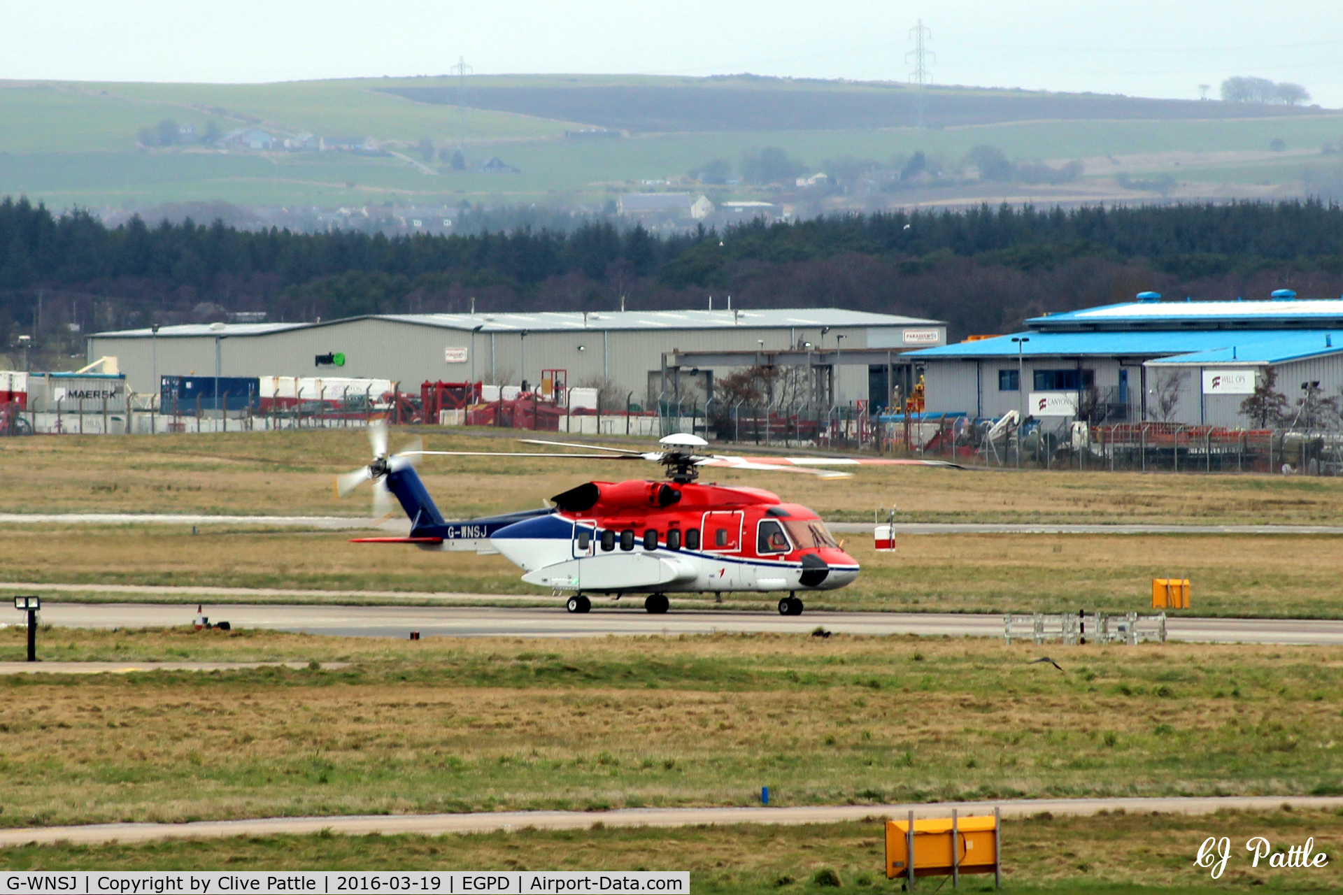 G-WNSJ, 2012 Sikorsky S-92A C/N 920185, Taxy out at Aberdeen EGPD