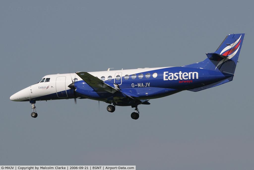 G-MAJV, 1995 British Aerospace Jetstream 41 C/N 41074, BAe Jetstream 4102 at Newcastle Airport, September 21st 2006.