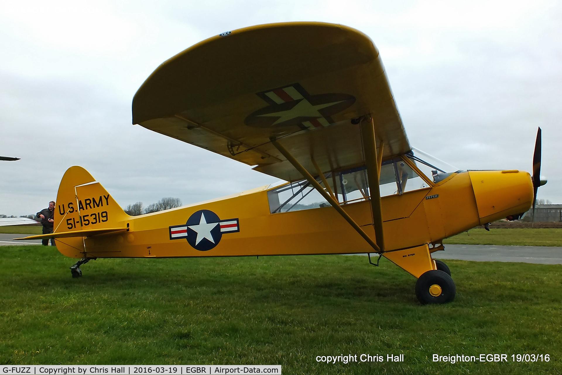 G-FUZZ, 1951 Piper L-18C Super Cub (PA-18-95) C/N 18-1016, at Breighton airfield