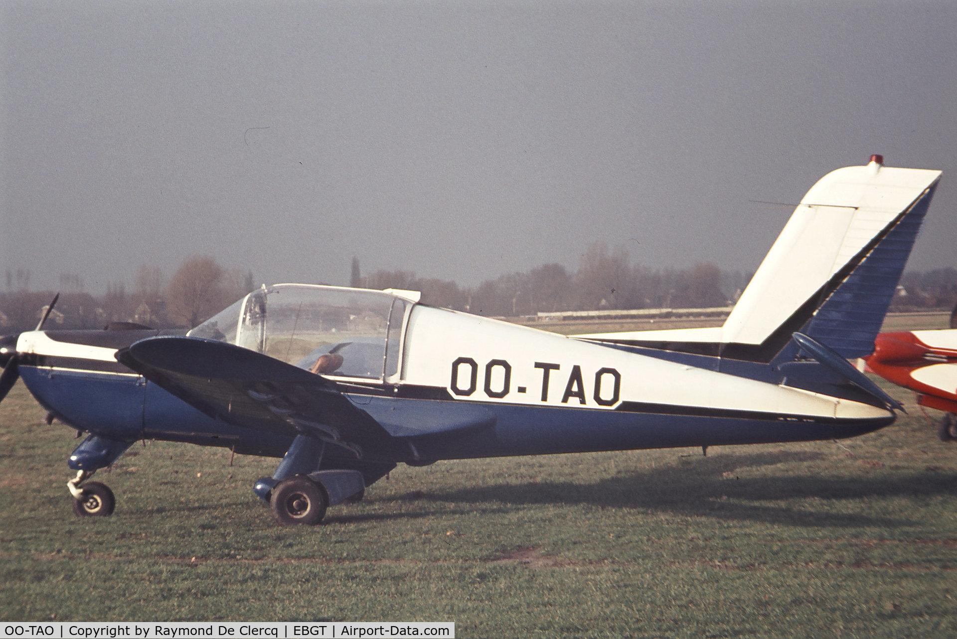 OO-TAO, Morane-Saulnier MS-892A Rallye Commodore 150 C/N 10457, At Ghent airport in 1970's.