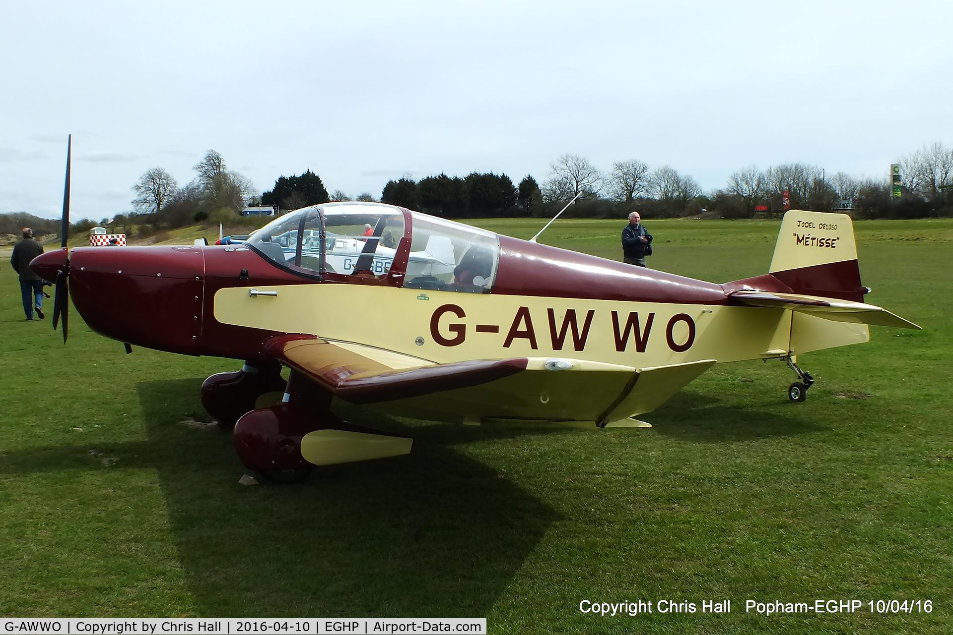 G-AWWO, 1964 CEA Jodel DR-1050 Sicile C/N 552, at the Jodel fly in at Popham