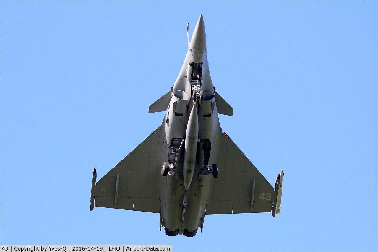 43, 2015 Dassault Rafale M C/N 43, Dassault Rafale M, Overshoot final rwy 08, Landivisiau Naval Air Base (LFRJ)