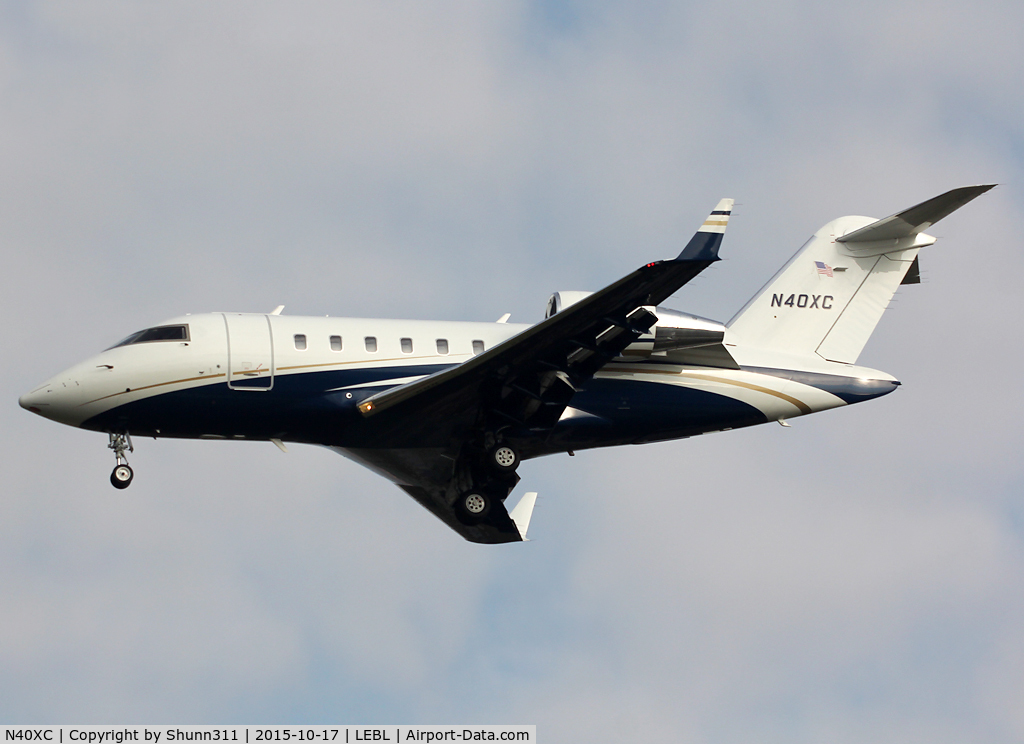 N40XC, Bombardier Challenger 605 (CL-600-2B16) C/N 5832, Landing rwy 25R