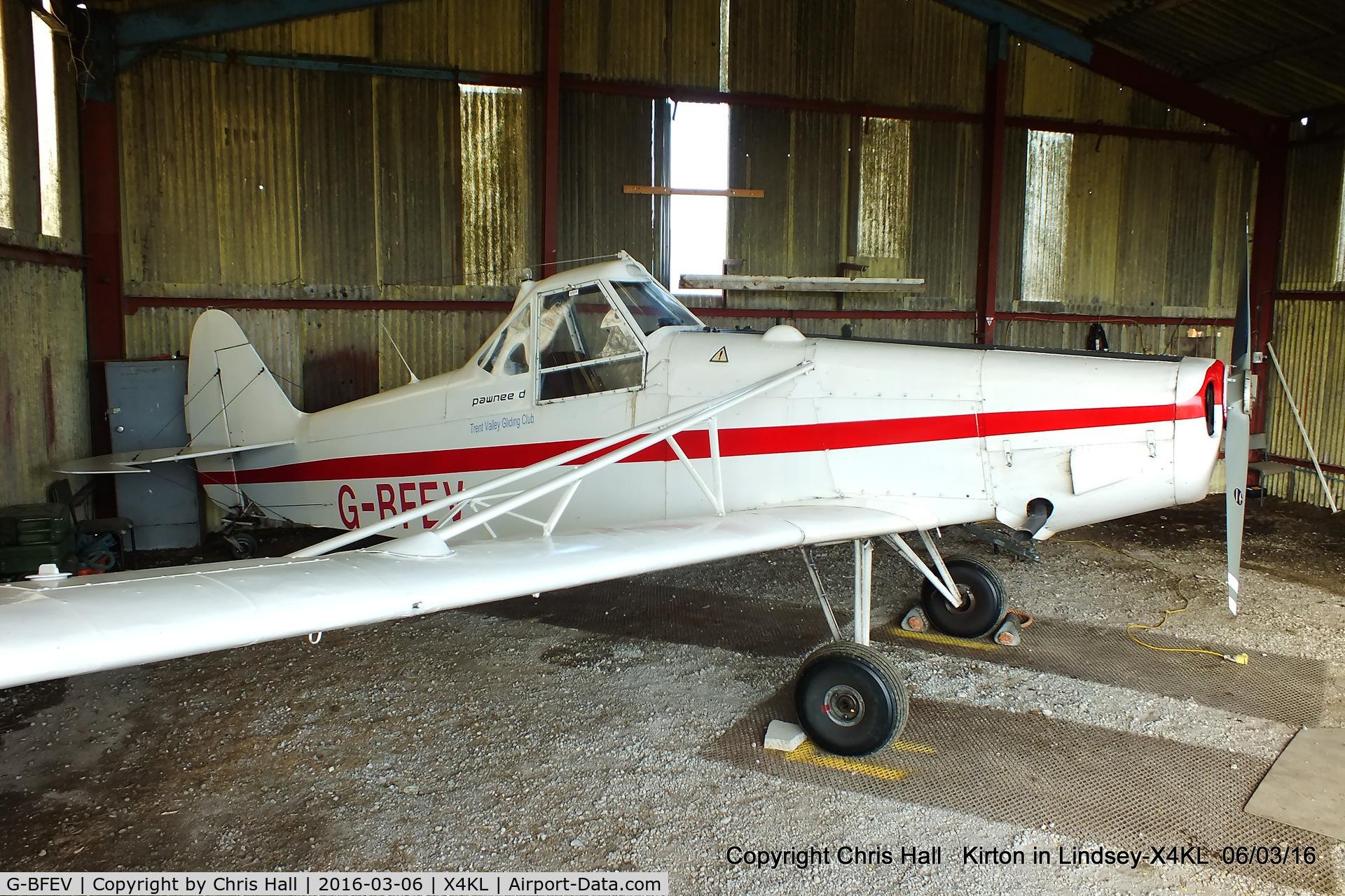 G-BFEV, 1977 Piper PA-25-235 Pawnee C/N 25-7756060, at Kirton in Lyndsey