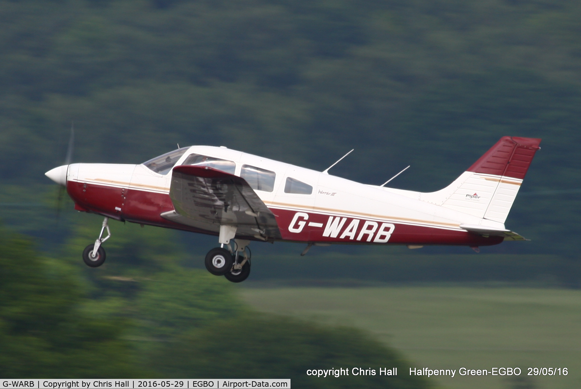 G-WARB, 1998 Piper PA-28-161 Cherokee Warrior III C/N 28-42034, at Halfpenny Green
