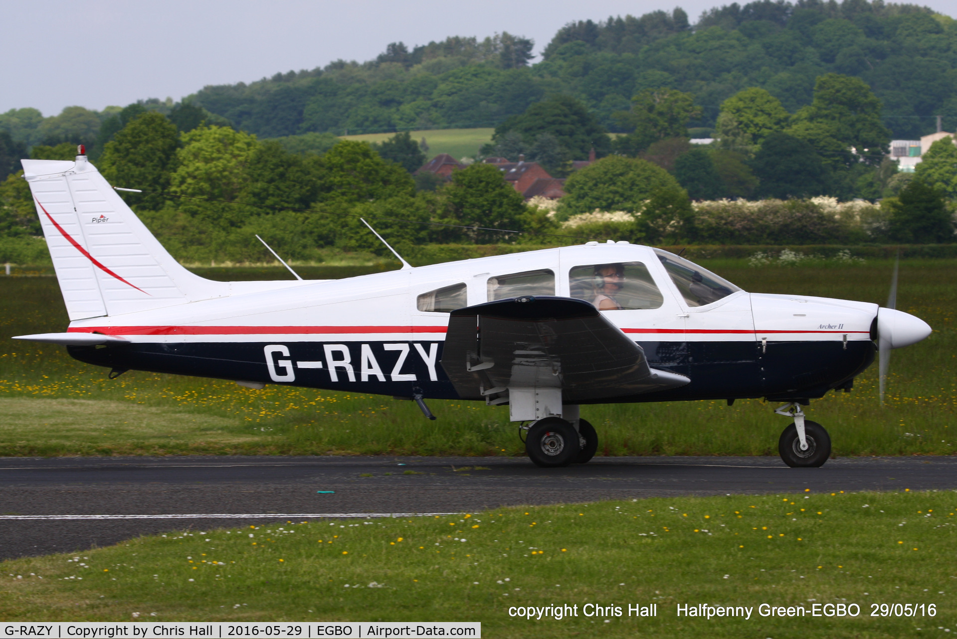 G-RAZY, 1979 Piper PA-28-181 Cherokee Archer II C/N 28-8090102, at Halfpenny Green