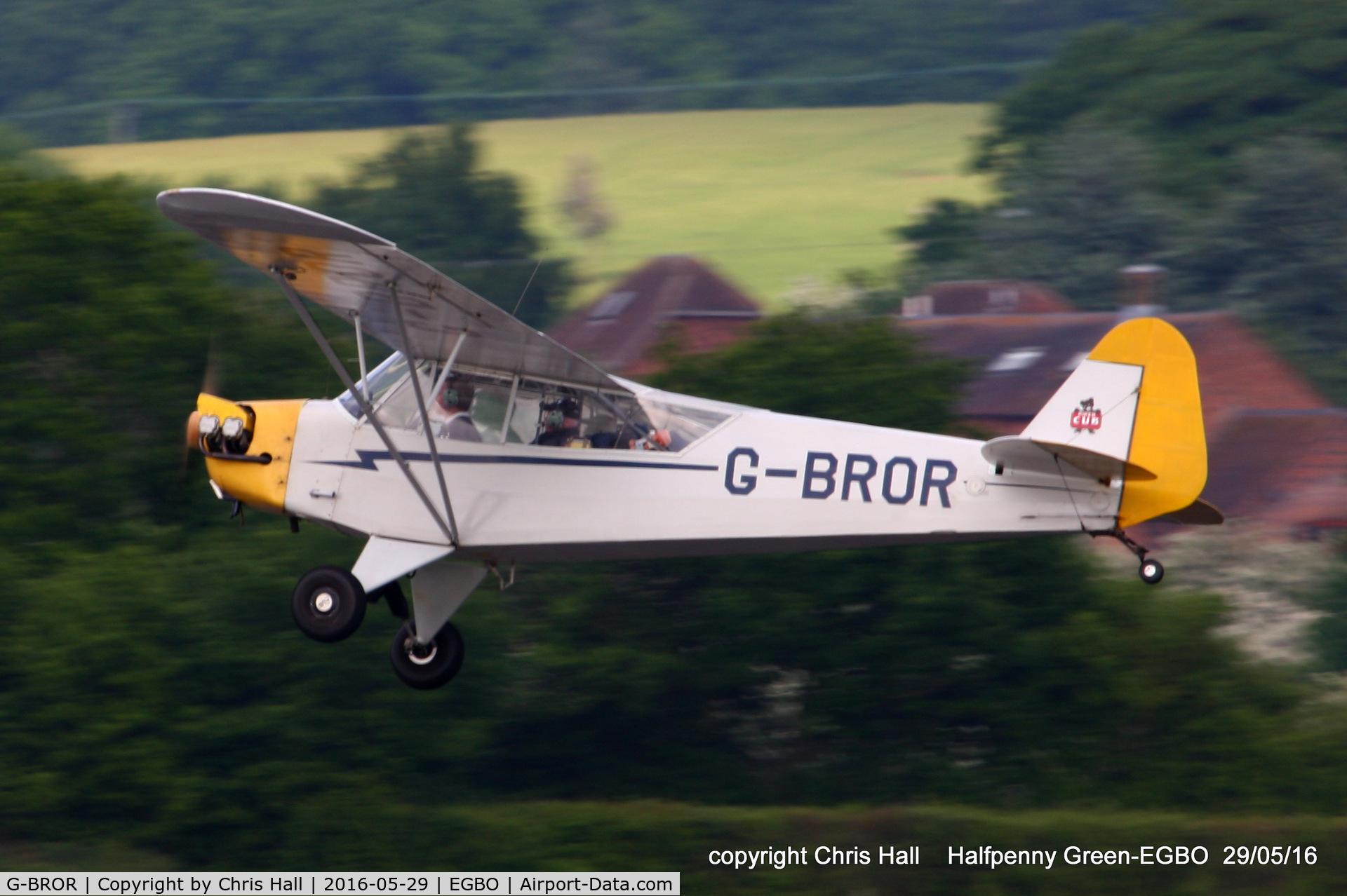 G-BROR, 1943 Piper L-4H Grasshopper (J3C-65D) C/N 10885, at Halfpenny Green
