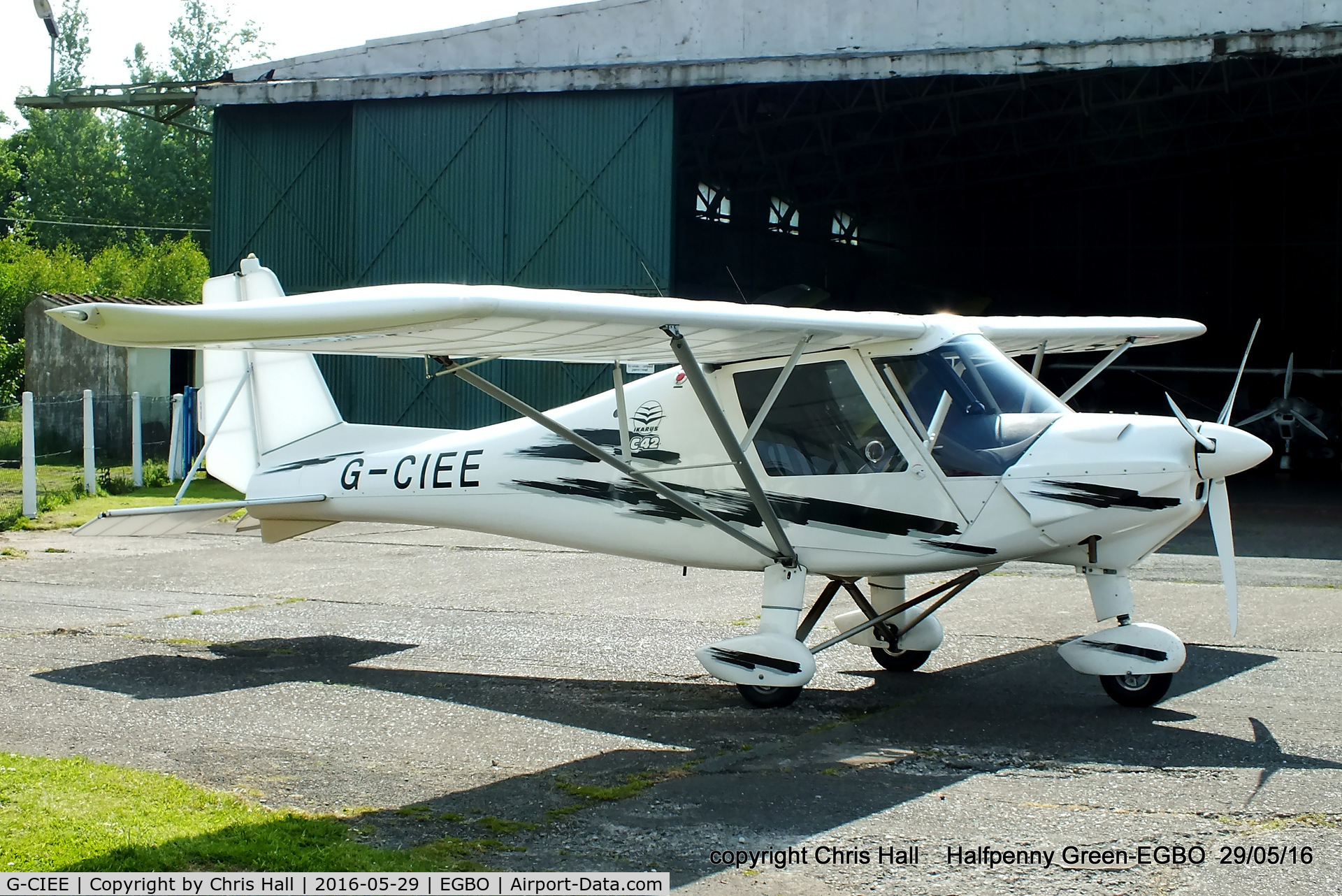 G-CIEE, 2013 Comco Ikarus C42 FB100 Bravo C/N 1311-7289, at Halfpenny Green