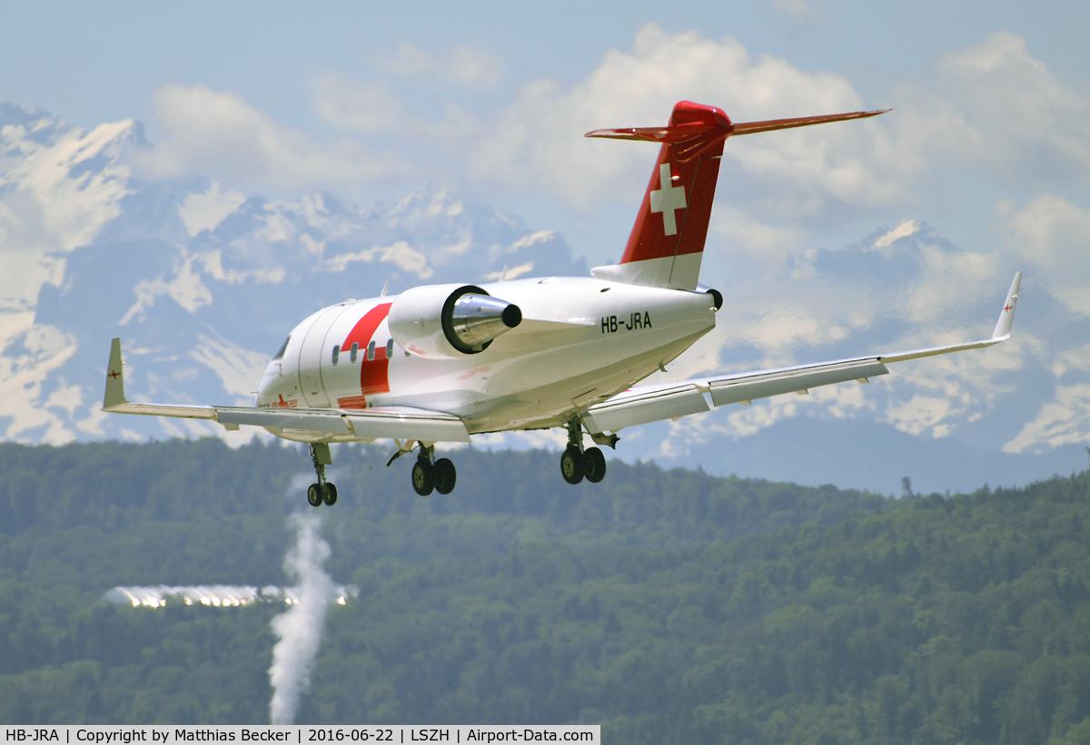 HB-JRA, 2002 Bombardier Challenger 604 (CL-600-2B16) C/N 5529, HB-JRA